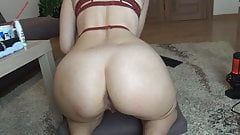 Russian girl caresses the ass