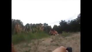 Beach fuck blowjob