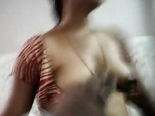 Boob press of shanti Desi aunty boob press blowjob and mouth fuck