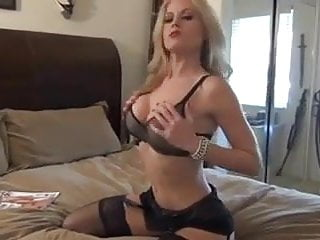Freshcut flowers porn Blonde strips lingerie and shows her pink flower joi