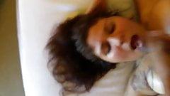 whore sucking cock for a facial