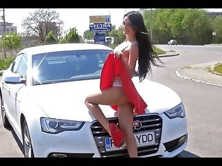 Sexy in girl Striptease sexy in audi a5