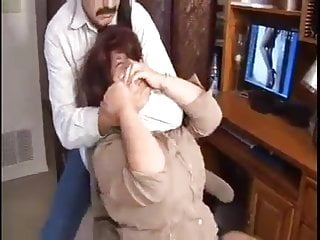 Bound gagged and spanked Elane bound, gagged, and mouth fucked