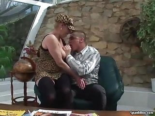 Busty blonde old 03 - Busty blonde granny gets her pussy pounded