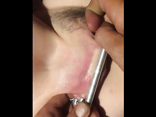Stretching pussy lips videos - Stretching her clamped pussy lips