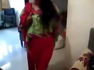 Indian teen pantie Girl showing red bra and panty to camera