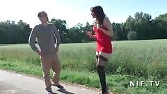 Young Amateur french prostitute banged and facialized