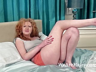Crystal bottoms tanned videos - Crystals hairy pussy gets fingered on the bed