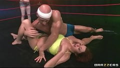Tag team oil wrestlers go at it