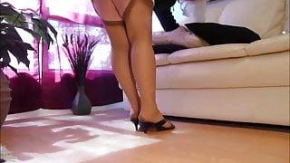 crossdress cocksucking faggot upskirt in stockings 10