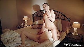 Horny lesbians eat each other's hot, wet pussy