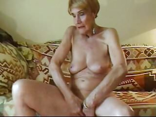 Really bald pussy Olga is 74 and loves to finger her bald pussy