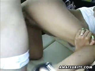 Girlfriend busty Busty amateur girlfriend anal with facial in a car
