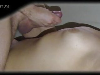 Male testimonials on breast development Cumshot on breast