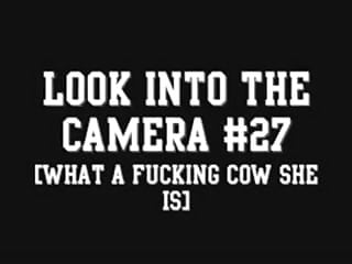 Girl fuck cow Look into the camera 27 what a fucking cow she is