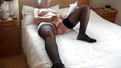 Kay allows her sissy cuck a quick fuck