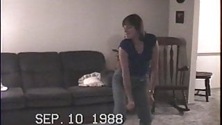 My wife dancing and stripping