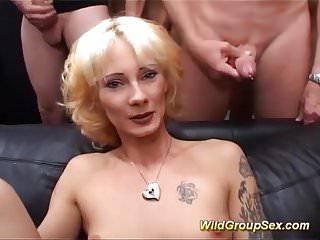 Stepmom orgy - German stepmoms first orgy