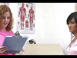 Pee video sample Redhead nurse cherry and friend jack him for sample