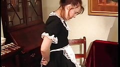 Maid getting butt whipped by butler