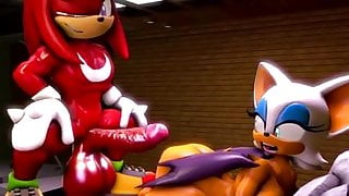 Rouge and knuckles 2