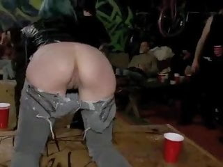 Public hardcore sex - Tattooed girl public nasty group sex