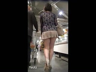 Upskirts asian Asian milf with a very short skirt upskirt - no panties