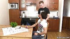 Gay buddy seduces him into cheating sex