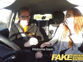 Fibromyalgia and sexual drive - Fake driving school creampie in nerdy ginger teen hairy muff