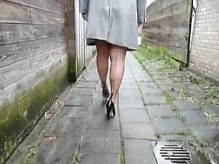 Bbw in heel Bbw in lingerie teasing in a backalley nt