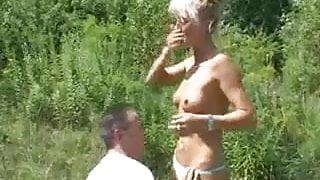 Amateur Paare im Natur