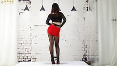 Dance in pantyhose and heels 11