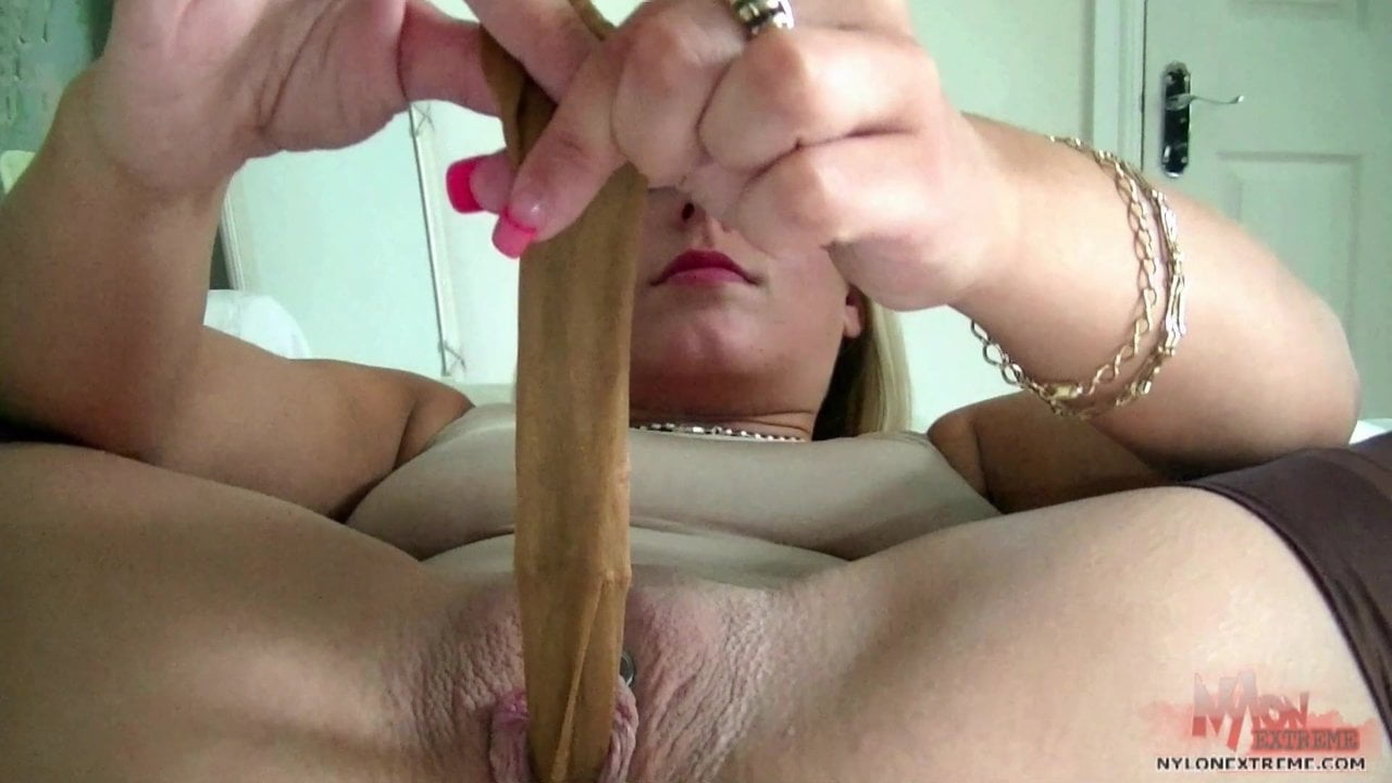 Anal Slut Gets Off On Nylon And Toys