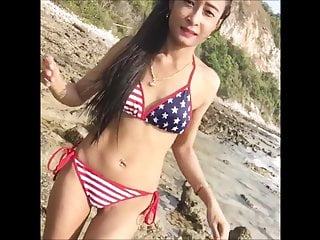 Girls make you cum Sexy skinny bikini girl will make you cum