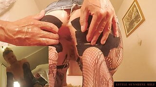 Anal training and Assfuck with Cum in Ass – Little Sunshine MILF