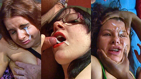 Eye cum, oral cum, tit cum and facial compilation