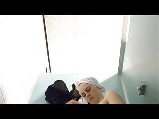 Pool milfs video clips Red panties girl in pool cabin-spy cam clip