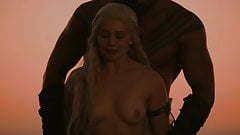 GOT Emilia Clarke Sex Scenes (No Music)