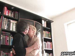 German granny fuck videos Ganzgeil.com blonde german granny fucks