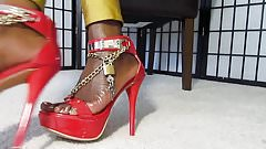 In Chastity for Ebony Feet