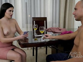 Sexy black hair girl Anal rimming relax with sexy black haired beauty