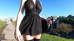 Skimpy Black Sheer Dress