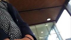 Upskirt blonde lift + Conversation + Wind assisted lift :D
