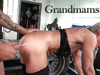 Granny cumshot