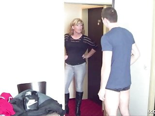Milfs seduces young boy German young boy seduce milf to get his first fuck