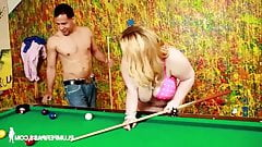 Sashaa Juggs – Pool Shark Stripping