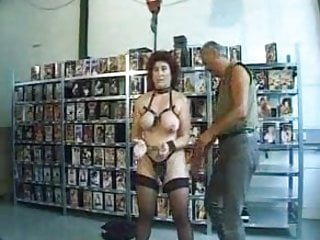 Different ways for a man to pleasure himself - Mature amateur slave is used in different ways