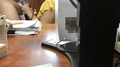Blowjob for colleague in the office (hidden cam)