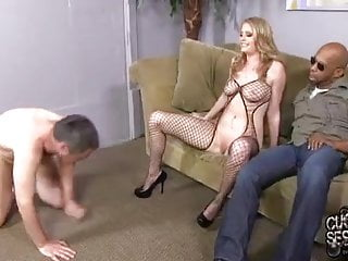 Dogfart fuck White wife fucked and creampied by bbc in front of cuckould