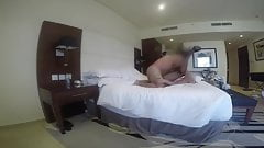 Cheating asian kazakh wife at hotel room w her Russian lover